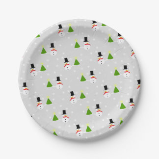 Snowmen Christmas Paper Plates