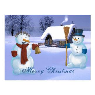 Snowmen Christmas Postcard