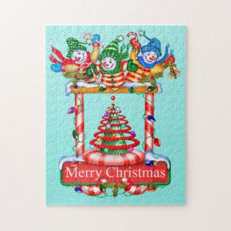 SNOWMEN E CHRISTMAS 11x14 Photo Puzzle + Gift BOX