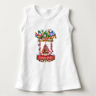 SNOWMEN F CARTOON Baby Sleeveless Dress