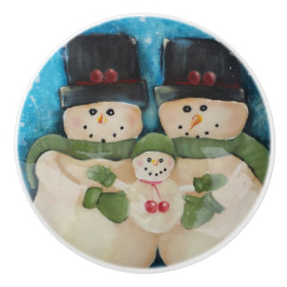 Snowmen Family cabinet Knobs