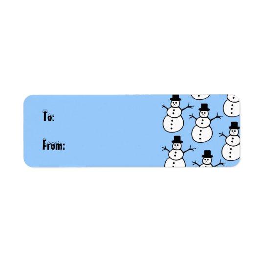 Snowmen Gift Tag Label