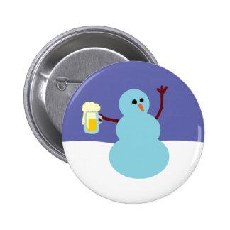 Snowmen Gone Wild! 6 Cm Round Badge