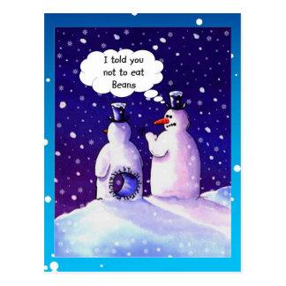 Snowmen Humour Postcard