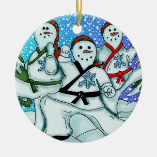 Snowmen karate Ornament