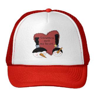 Snowmen Melt My Heart Tshirts and Gifts Trucker Hat