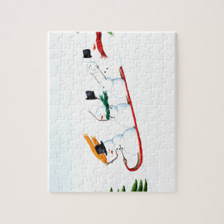 Snowmen on a Sled Puzzle