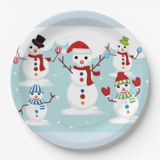 Snowmen Paper Plate