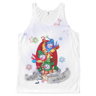 SNOWMEN UP  All-Over Printed Unisex Tank