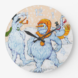 Snowmen Wallclocks