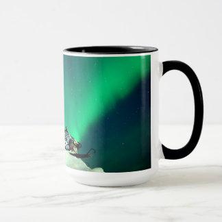 Snowmobile Aurora Mug