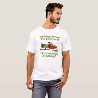 Snowmobile Christmas Dashing Through Snow T-shirt