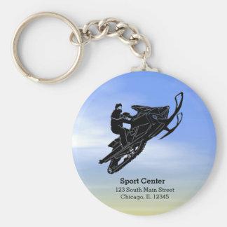 Snowmobile Key Ring
