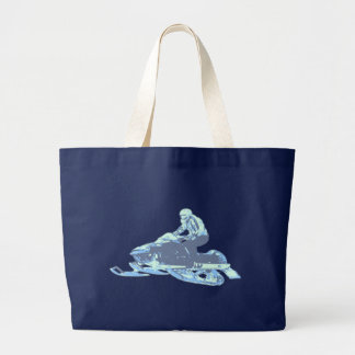 Snowmobile Large Tote Bag