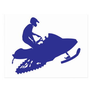 Snowmobile/Sledder Postcard