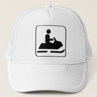 Snowmobile Symbol Hat
