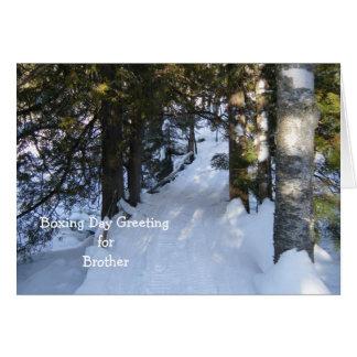 Snowmobile  Trail Through Woods Card