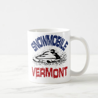 Snowmobile Vermont Coffee Mugs