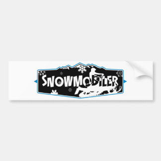 SNowmobiler Bumper Sticker