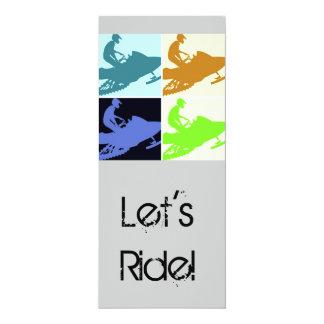 Snowmobiler/Let's Ride! Card