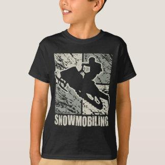 Snowmobiling Cubism T-Shirt