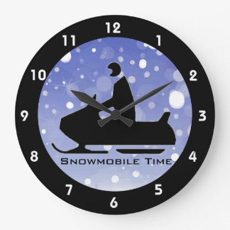 Snowmobiling Design Clock