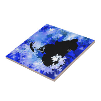 Snowmobiling in the Avalanche Ceramic Tile