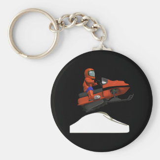 Snowmobiling Jump 2 Key Ring
