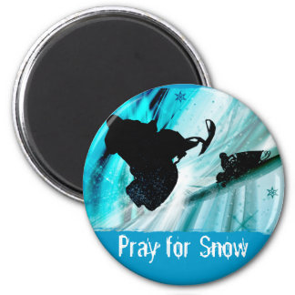 Snowmobiling on Icy Trails Fridge Magnet
