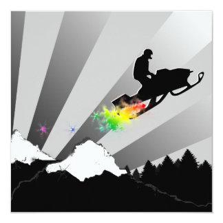 snowmobiling : rainbow powder trail card