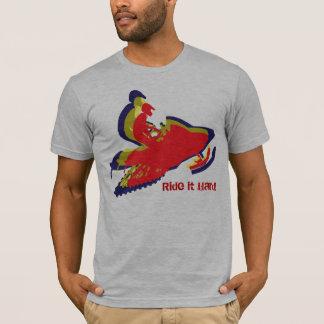 Snowmobiling Ride it Hard T-Shirt