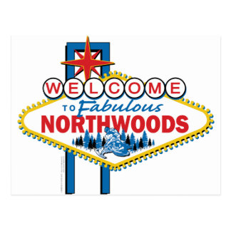 Snowmobiling/Welcome to the Northwoods Postcard