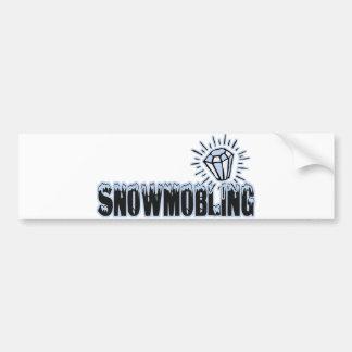 Snowmobling Bumper Sticker