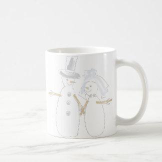 Snowpeople Bride and Groom Coffee Mug