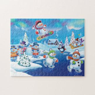 Snowpeople Winter Wonderland jigsaw puzzle
