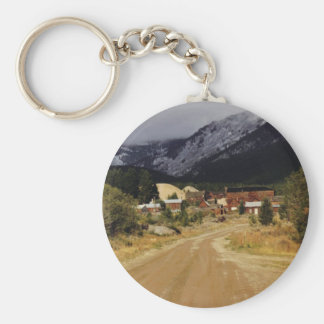 Snows a Coming Basic Round Button Key Ring