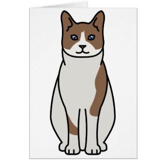 Snowshoe Cat Cartoon Card
