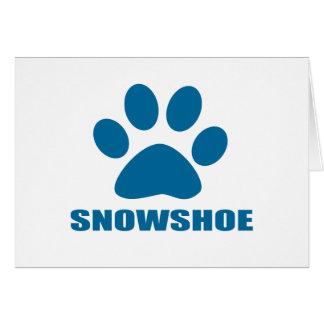 SNOWSHOE CAT DESIGNS CARD