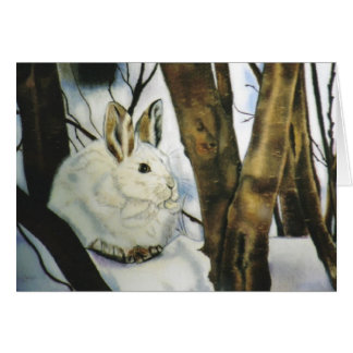 """""""Snowshoe Hare"""" Christmas Card"""