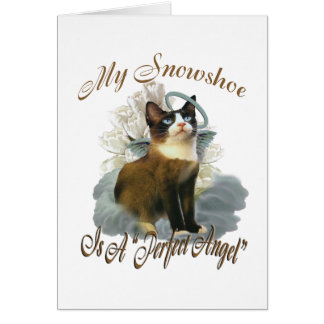Snowshoe Perfect Angel Card