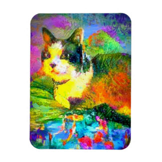Snowshoe Spring Pond Colors Kitty Magnet