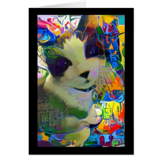 snowshoe street art kitty card