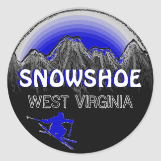 Snowshoe West Virginia blue ski stickers