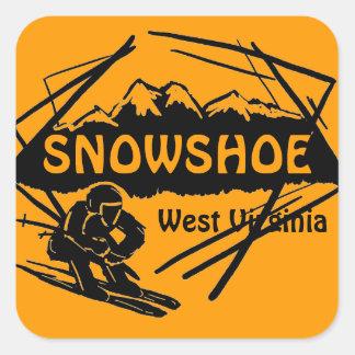 Snowshoe West Virginia orange ski logo stickers