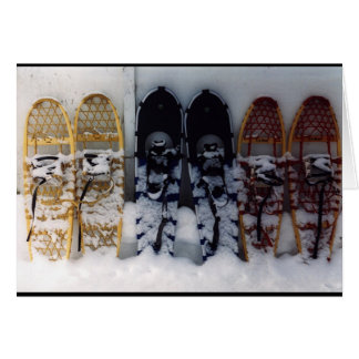 Snowshoes Card