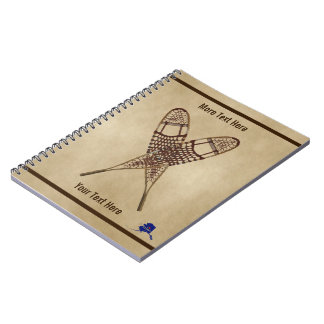 Snowshoes On Old Paper Notebooks