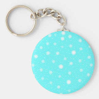 Snowstorm Background Basic Round Button Key Ring