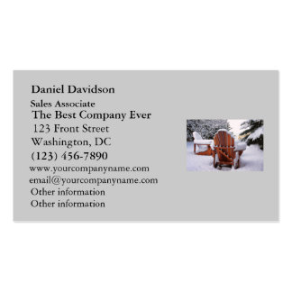 Snowy Adirondack Chairs in Winter Photo Pack Of Standard Business Cards