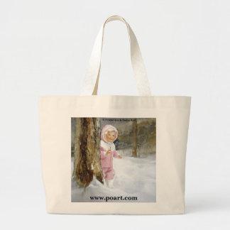 Snowy Adventure Jumbo Tote Bag