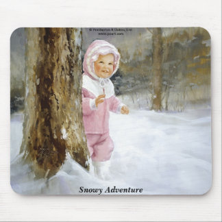 Snowy Adventure Mouse Pad